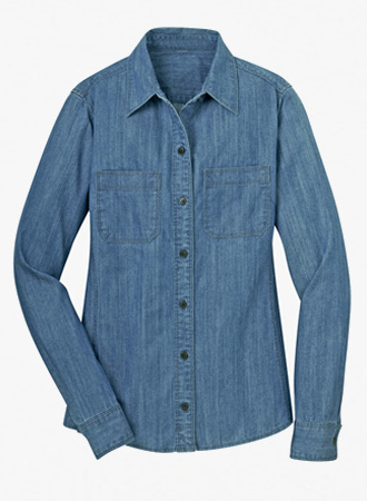 Women's Patch Pocket Denim Shirt