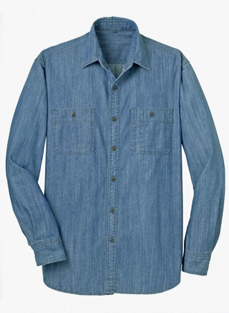 Men's Patch Pocket Denim Shirt