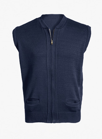 Heavyweight Zip-front cardigan vest