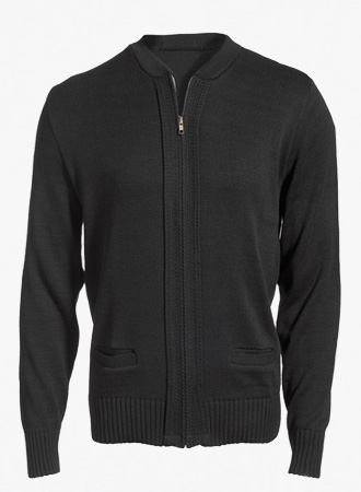 Heavyweight Zip-front cardigan sweater