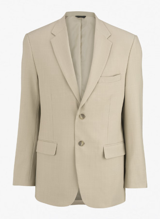 Men's 2 Button Washable Suit Coat with Intaglio cross stretch weave