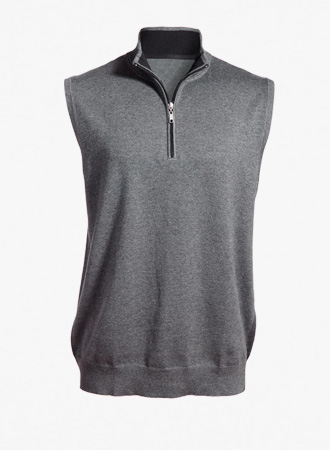 Quarter zip sweater vest