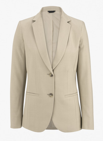 Women's 2 Button Washable Suit Coat with Intaglio cross stretch weave