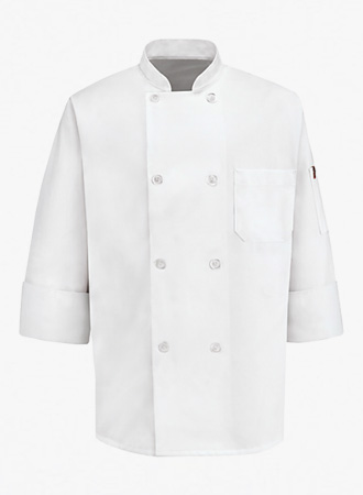 8 Pearl Button Chef Coat