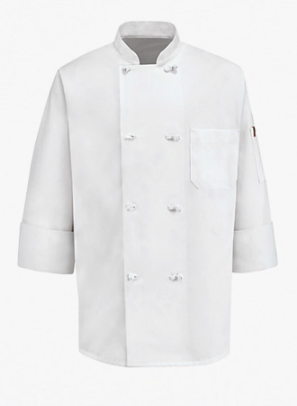 8 Knot Button Chef Coat