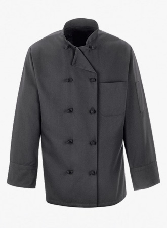 10 Knot Button Chef Coat
