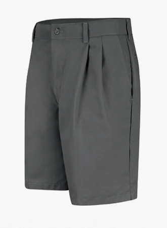 Pleated work shorts